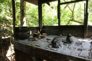 Die Küche in Sankofa Rainbow Roots Farm