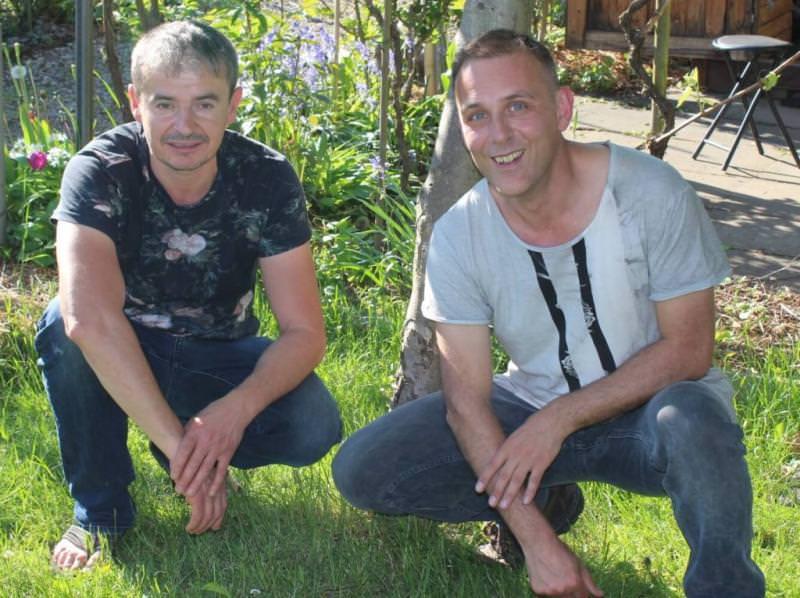 Karl & Laurent im Garten