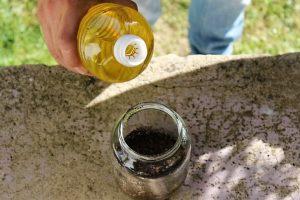 Bodenartermittlung- Weissweinessig-Methode