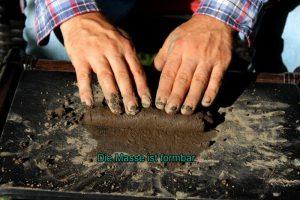 Bodenartermittlung Wurst-Methode