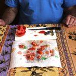 Tomaten auf ein Küchenpapier